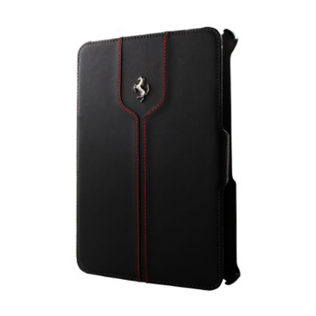 "フェラーリiPad miniケース(Retina非対応) ""Ferrari Montecarlo Leather Flapbookcase Black"""