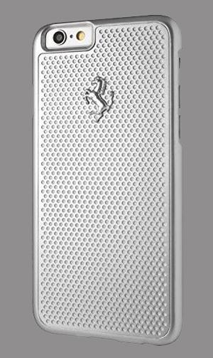 """フェラーリiPhone6/6S(4.7inch)カバー  """"Hard Case - Aluminum Plate - Silver"""""""