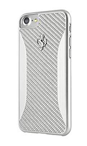 """フェラーリiPhone7 カバー """"Ferrari SF PIT SHOP Carbon Fiber Hard Case Silver"""""""