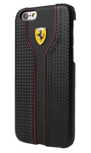 """フェラーリiPhone5/5S/SE カバー """"Hard Case - Carbon Leather Back Cover. Black """""""