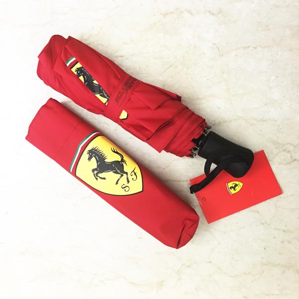 フェラーリ パドッククラブ限定 コンパクトアンブレラ 折りたたみ傘 レッド