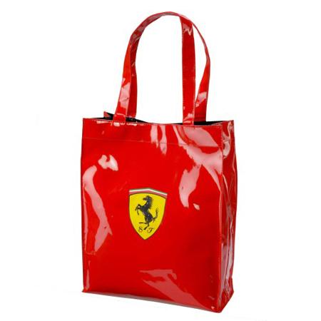 フェラーリストア限定 フェラーリ スクデット トートバッグ レッド サイズ:縦38.5×横31×マチ幅11cm