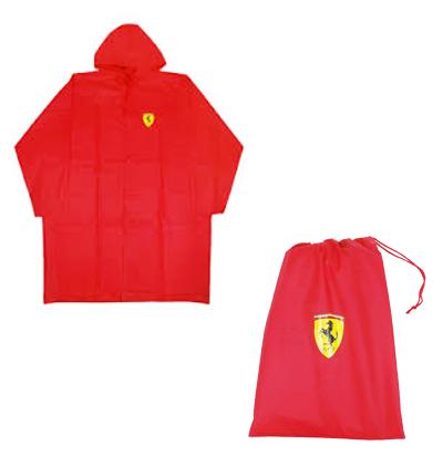 フェラーリ ポンチョ 収納袋付き