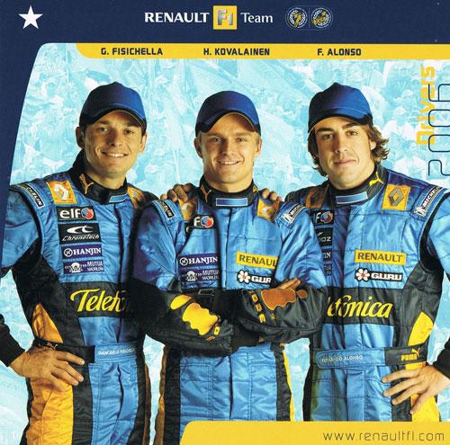 2006 ルノー ドライバーズカード(アロンソ・フィジケラ・コバライネン)