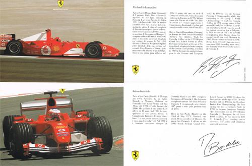2004 フェラーリ ドライバーズカード 2枚セットTYPEB(シューマッハ・バリチェロ)