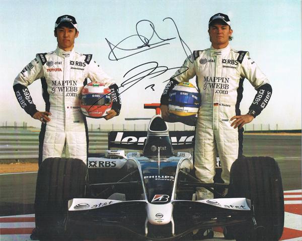 2008 ウィリアムズ  N.ロズベルグ・中嶋一貴  直筆サイン入り マシンカード