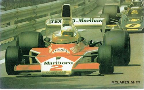 1975 マクラーレン M23  ヨッヘン・マス カード