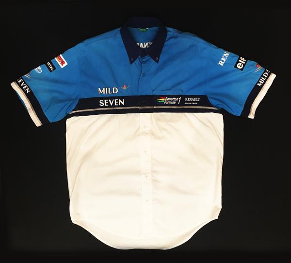 1996年 ベネトンルノー チーム支給品 ピットシャツ マイルドセブン USED サイズM イタリアベネトン製