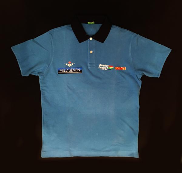 1999年 ベネトンプレイライフ チーム支給品 チームポロ マイルドセブン USED サイズM イタリアベネトン製