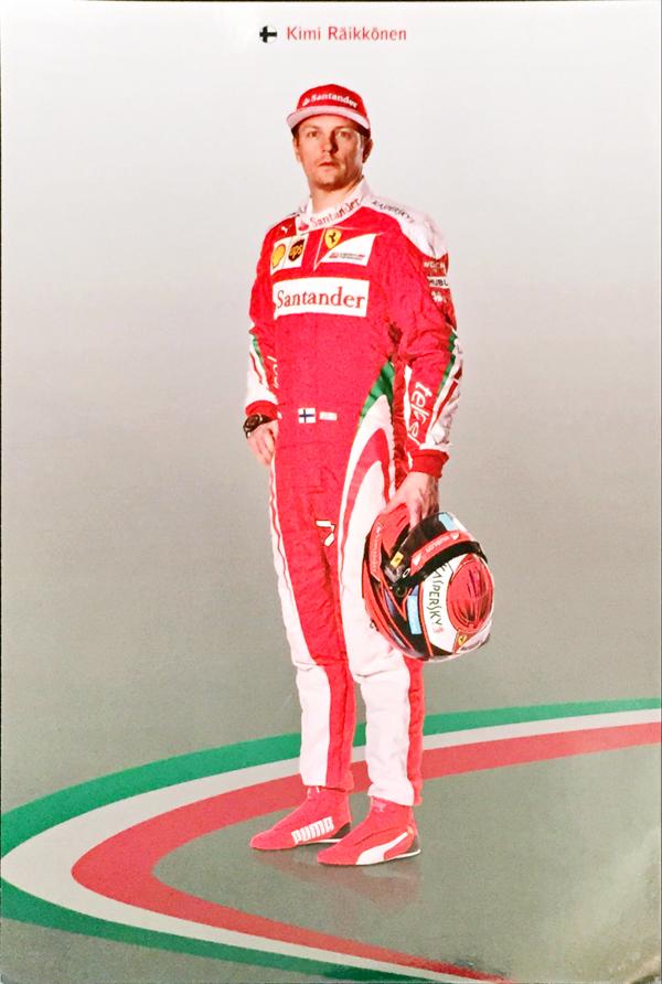 2016 フェラーリ K.ライコネン ドライバーズカード