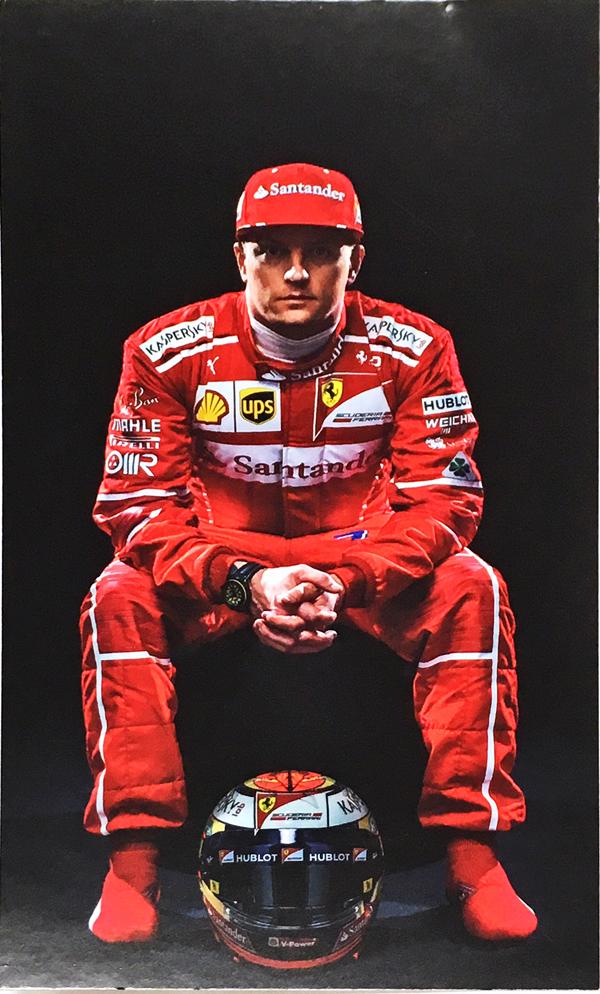 2017 フェラーリ K.ライコネン ドライバーズカード