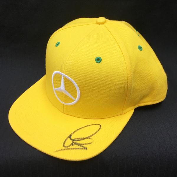 L.ハミルトン 直筆サイン入 2016年ブラジルGP限定 L.ハミルトン ドライバーズキャップ