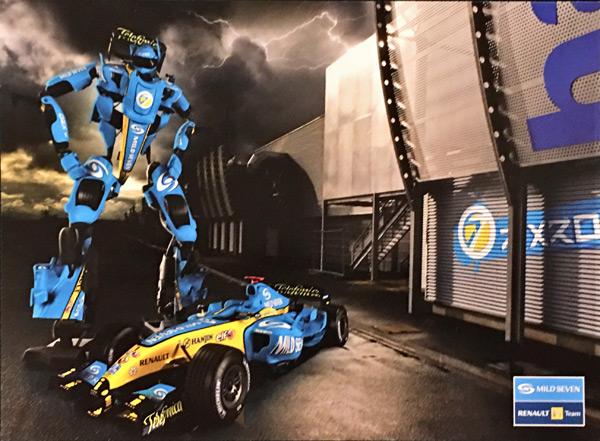 ルノーF1 2006  マイルドセブン プロモーションカード ※サイズ:12.5cm×17cm
