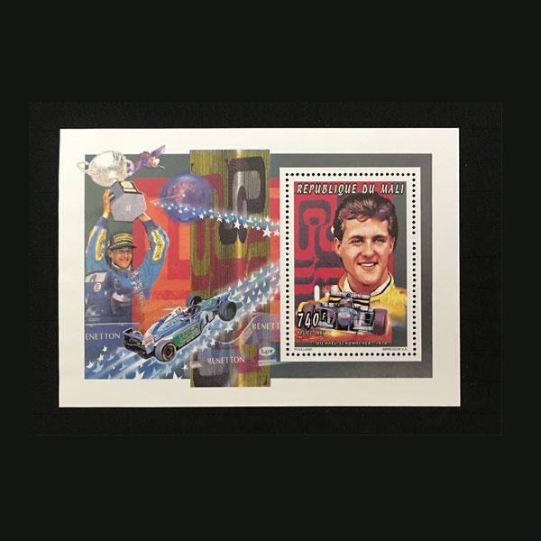 マリ共和国 1995年発行 ミハエル・シューマッハ スーペニアシート切手