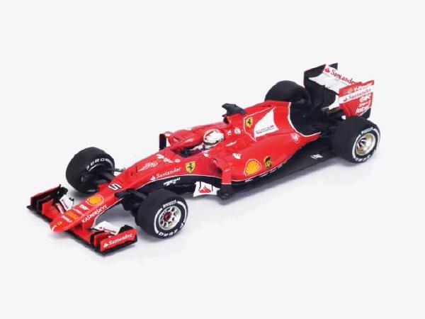【ご予約商品特典付】10月発売予定 ルックスマート 1/43 フェラーリ SF15-T S.ベッテル 2015年ベルギーGPフェラーリF1参戦900戦 NO.5