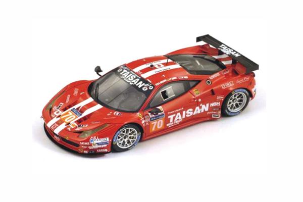 ルックスマート×スパーク 1/43 フェラーリ 458 イタリア  チーム・タイサン(Taisan) 中野信治/P.エハート/M.リッチ 2014年ルマン時間GTEアマクラス8位  No.70