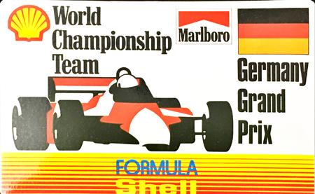 マールボロ(Marlboro)&シェル(Shell) 1990年代 プロモーションステッカー(ドイツGP)  サイズ 縦8×横12.5cm