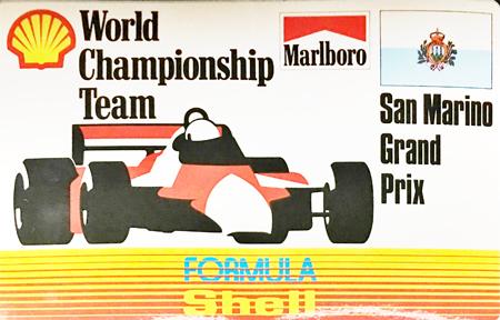 マールボロ(Marlboro)&シェル(Shell) 1990年代 プロモーションステッカー(サンマリノGP)  サイズ 縦8×横12.5cm