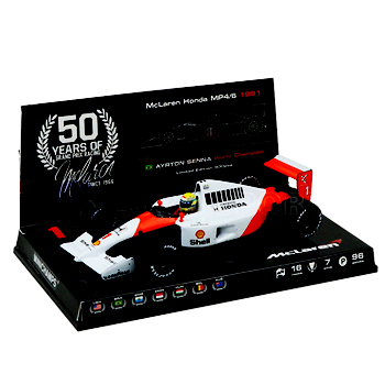マクラーレン50周年別注 ミニチャンプス 1/43  マクラーレン MP4/6 A.セナ 1991年ワールドチャンピオン
