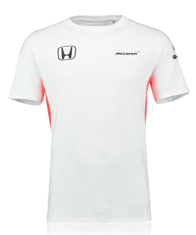 マクラーレン ホンダ 2017 チーム セットアップTシャツ ホワイト