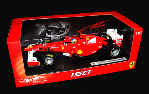 マテル 1/18 フェラーリ 150°Italia  F.アロンソ (ドライバー付) 2011本戦