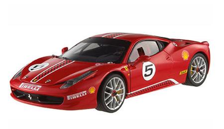マテル 1/43 フェラーリ458 イタリア チャレンジ レッド No.5