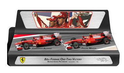 マテル 1/43 フェラーリ F10 バーレーンGP 2010 1-2フィニッシュ アロンソ&マッサ 2台セット(限定3000台)