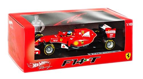 マテル 1/18 フェラーリ F-1 2014 F14-T F.アロンソ NO.14(ドライバー付)