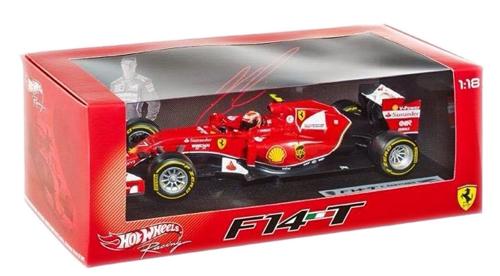 マテル 1/18 フェラーリ F-1 2014 F14-T K.ライコネン NO.7(ドライバー付)