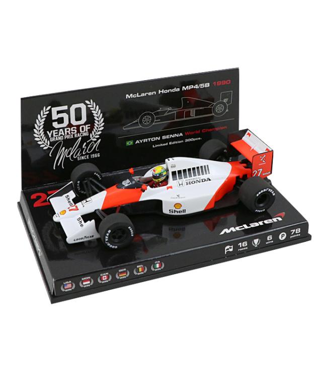 マクラーレン50周年別注 ミニチャンプス 1/43 マクラーレン MP4/5B A.セナ 1990年ワールドチャンピオン