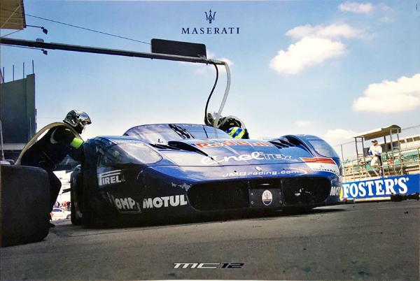 マセラティ  公式ポスター マセラティMC12 マシンポスター タイプB