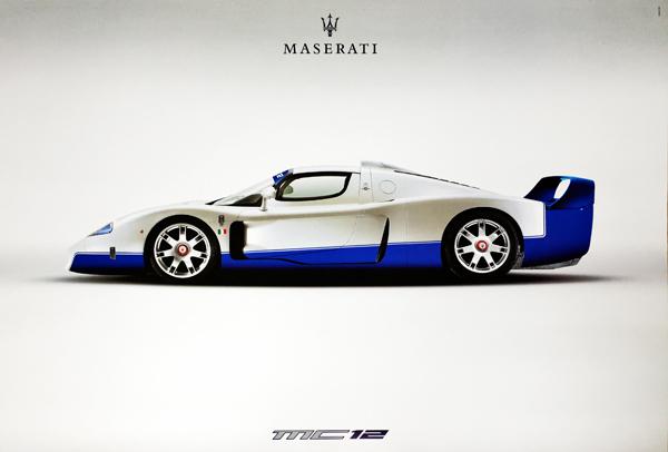 マセラティ  公式ポスター マセラティMC12 マシンポスター タイプC
