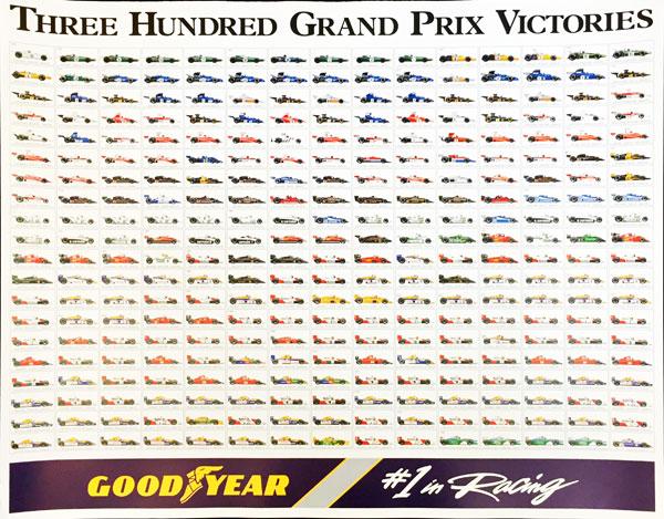 グッドイヤー GOODYEAR F1 300勝記念 BIGポスター