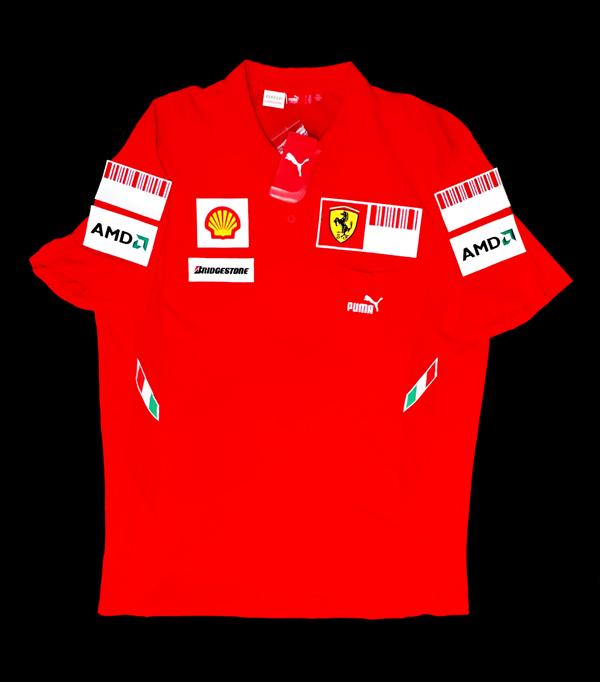 2008年 フェラーリ チーム供給品 ピットポロ 新品タグ付 サイズXXL PUMA製
