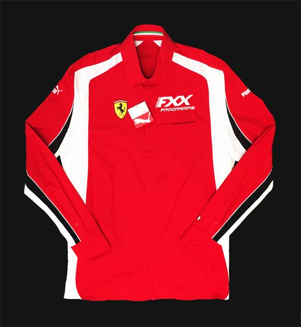 2009年 フェラーリ FXX プログラム スタッフ供給品 長袖ピットシャツ 新品タグ付(PUMA製) サイズL