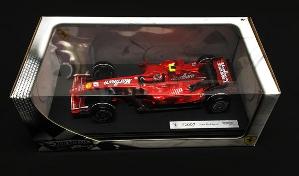 マテル 1/18 フェラーリF2007 K.ライコネン 2007後期カラー 当店オリジナルタバコモデル
