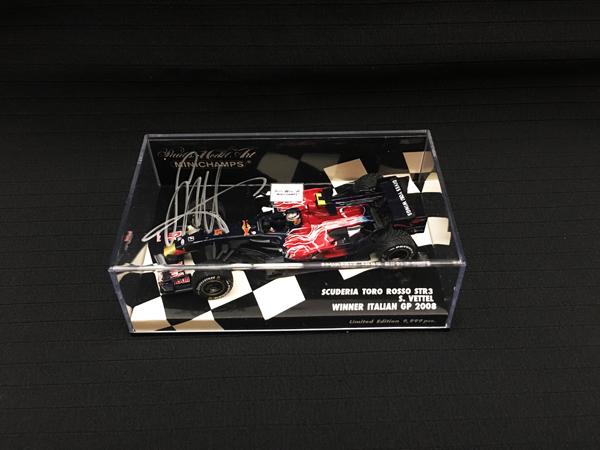 ミニチャンプス 1/43 S.ベッテル 直筆サイン入  トロロッソSTR3 2008年イタリアGP初優勝