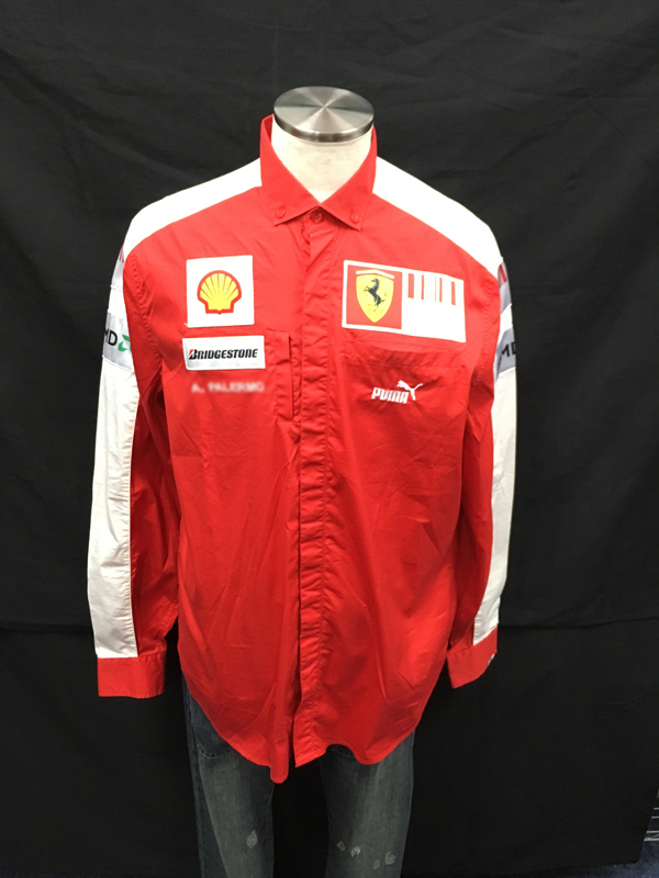 2009年 フェラーリ チーム支給品 PITシャツ 長袖 USED サイズL