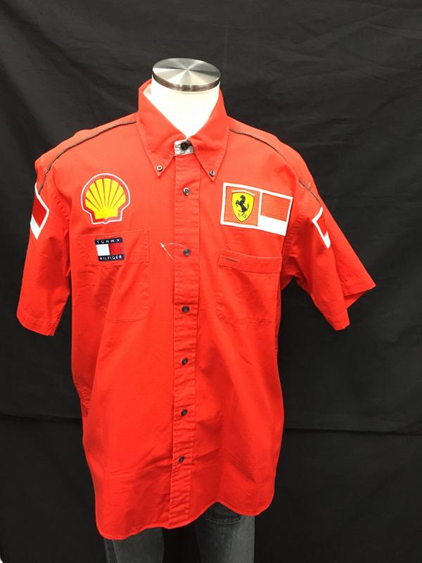 2001年 フェラーリ チーム支給品 PITシャツ ノンタバコ USED サイズL