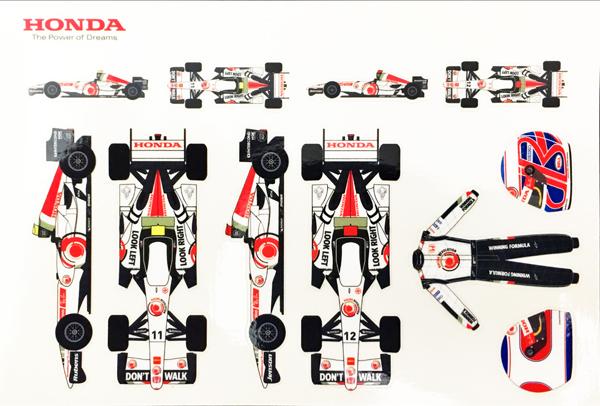 HONDA F1 RACING 2006 チームカード (ステッカータイプ)