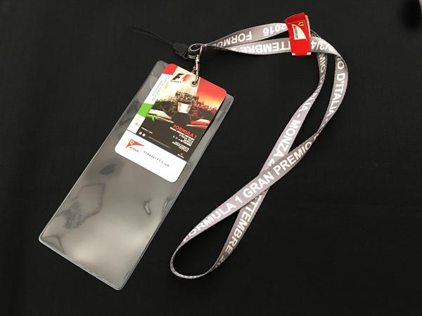 2016 イタリアGP フェラーリ F1クラブパス付 チケットケース