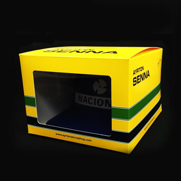 【再入荷】セナ財団公認商品 【復刻版】アイルトン・セナ NACIONAL(ナショナル)キャップ 初期ver 専用BOX付