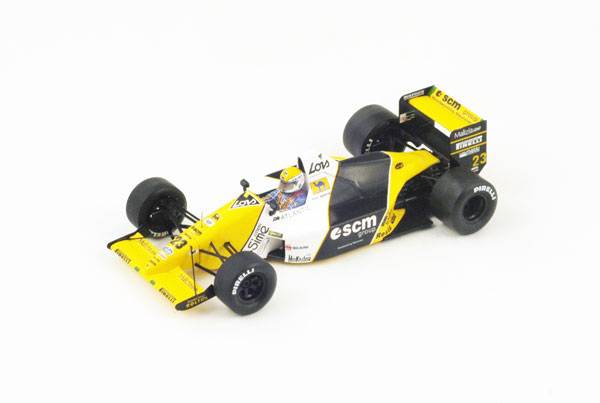 【開幕ミニカーフェアー対象】スパーク 1/43 ミルディ M189 P.マルティニ1989年イギリスGP5位 No.23