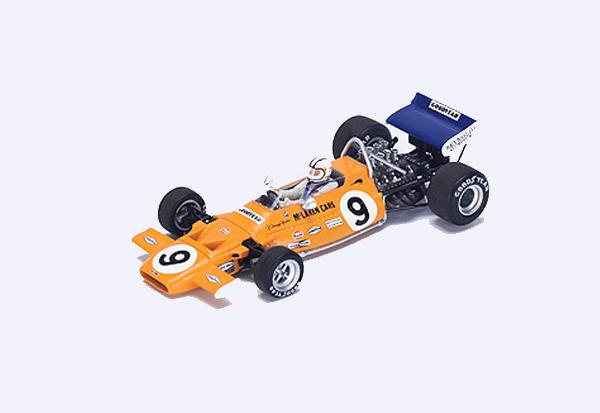 スパーク 1/43  マクラーレン M19A D.ハルム 1971年モナコGP4位 No.9