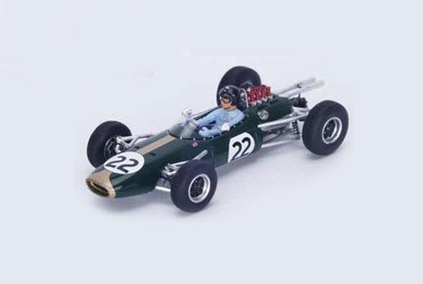【開幕ミニカーフェアー対象】スパーク 1/43 ブラバム BT7 ダン・ガーニー 1964年フランスGP優勝 No.22