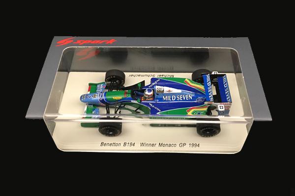 スパーク 1/43 ベネトン B194 M.シューマッハ 1994年モナコGP優勝 No.5 当店オリジナルタバコモデル