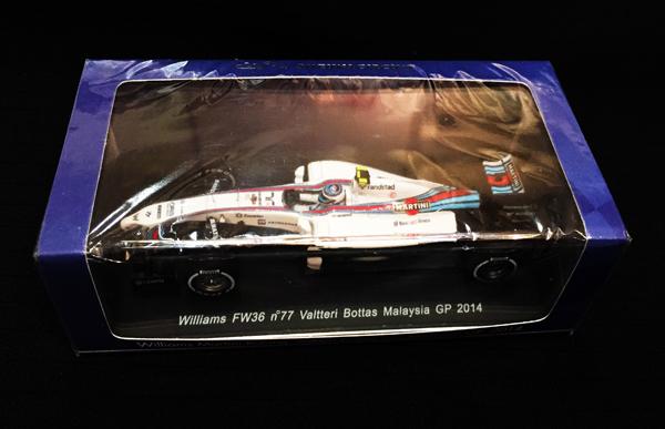 スパーク 鈴鹿サーキット別注 1/43 ウィリアムズFW36 V.ボッタス 2014年マレーシアGP