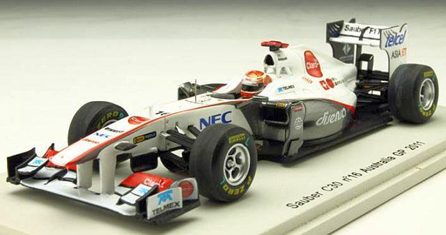 スパーク 1/43 ザウバー C30 小林可夢偉 2011年オーストラリアGP NO.16