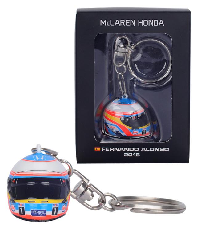 マクラーレン ホンダ 2016 1/12 F.アロンソ ヘルメットキーホルダー