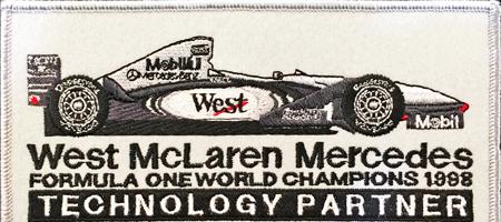 マクラーレン テクノロジー オフィシャルワッペン  サイズ 縦7×横13.5cm
